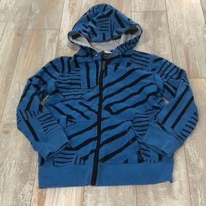 Blue pattern skater hoodie size 5T